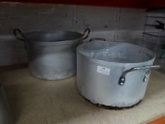 * 2 x large cooking pots