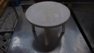 * small white wooden display stool. 200h