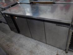 * Foster Gastronome 90 3 door prep top fridge on castors. 1860w x 700d x 840h