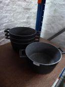 * 4 x grey cooking pots