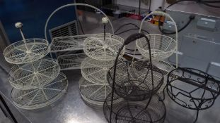 * selection of 6 wire baskets