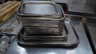 * 25 x baking trays - various sizes