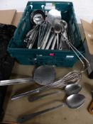 * utensils - large ladles, serving spoons, spiders, whisks -25+ items