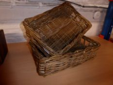 * 2 x medium wicker baskets