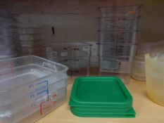 * 8 x plastic measuring tubs with some lids