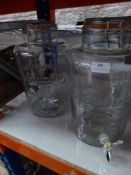 * 2 x flip top Kilner jars - 1 missing tap seal