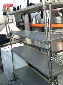 * 4 shelf racking. 1500w x 450d x 1850h