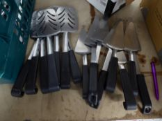 * utensils - cake slices/fish slices x 15 items