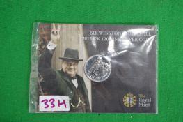Royal Mint 2015 UK £20 Winston Churchill Fine Silver Coin