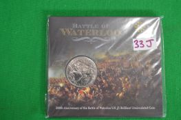 Royal Mint 2014 UK £5 Battle of Waterloo Brilliant Uncirculated Coin
