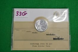 Royal Mint 2014 UK £20 WWI Outbreak Fine Silver Coin