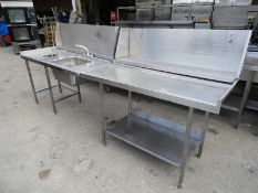 *Dishwasher Side Table and Sink Unit with Upstand to Rear, and Undershelves