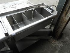 *Back of Bar Insulated Segregated Sink Unit with Undershelf and Bottle Holder