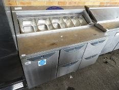 *Refrigerated Salad Preparation Unit over Cupboard and Drawers