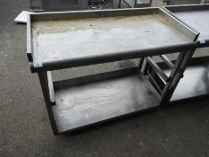 *Back of Bar Stainless Steel Preparation Table with Upstand to Rear and Sides, and Undershelf