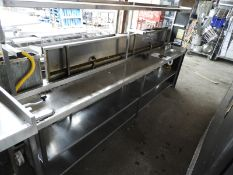 *Stainless Steel Preparation Counter with Wash Hand Basin, Commercial Can Opener, etc.