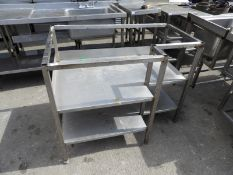 *Stainless Steel Table Base with Undershelves (No Top)