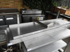 *Three Stainless Steel Shelves (Only Three Brackets) 120x29cm