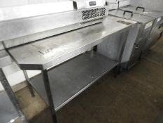 *Stainless Steel Shaped Preparation Table Upstand to Rear and Undershelf