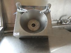 *Stainless Steel Wash Hand Basin with Lever Taps