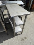 *Stainless Steel Preparation Table Infill Unit with Upstand to Rear and Two Undershelves