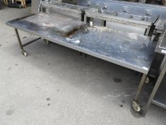 *Stainless Steel Mobile Preparation/Appliance Table 210x70cm
