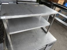 *Stainless Steel Countertop Two Tier Shelf Unit