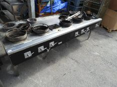 *Ellidge & Fairley Natural Gas Wok Range with Five Large and Two Small Burners