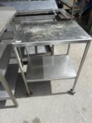 *Stainless Steel Two Tier Stand 60x45cm