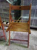 31 x Rustic Style Folding Chairs Collection From Grantham NG32 2AG on 19th and 20th May 10am till