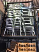 56 x Silver Banqueting Chairs - No Seat Pad - With Stilliage Collection From Grantham NG32 2AG on
