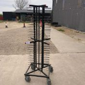 84 Plate Rack Holder with Wheels Collection From Grantham NG32 2AG on 19th and 20th May 10am till