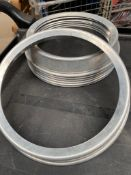 80 x aluminium 10inch plate rings Collection From Waltham Abbey - EN9 1FE on 19th and 20th May 9am