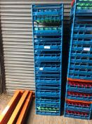 10 x Glass Fries Racks 500/500mm - Mixure of glasses held within crate. 16's, 25's, 36's, 49's