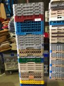 10 x Glass Racks - Mixure of glasses held. 16's, 20's, 25's, 36's and 49's Collection From
