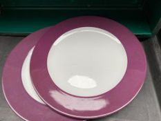110 x schowold germany brand 12inch purple rimmed plate Collection From Waltham Abbey - EN9 1FE on