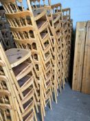 42 x Natural Banqueting Chairs - No Pads Collection From Grantham NG32 2AG on 19th and 20th May 10am