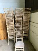 64 x Limewash Chairs with Ivory Seat Pad Collection From Grantham NG32 2AG on 19th and 20th May 10am