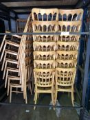 42 x Natural Banqueting Chairs - No Seat Pad - With Stilliage Collection From Grantham NG32 2AG on