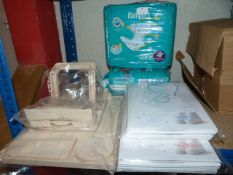 *2 Packs of Pampers, 2 Packs of Baby Bags, and a T