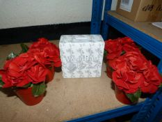 *Wedding Fund Money Box and 4 Pots of Artificial F