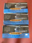 *3 Telescoping Trouser Storage Units