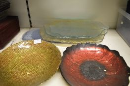 *7 Glass Display Dishes