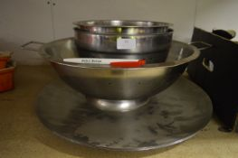*Five S/S Dishes Including Two Colanders