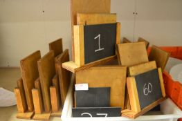 *20 Wooden Table Number Stands and Menu Holders