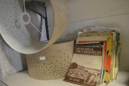 *2 Suede Effect Lamp Shades and a Quantity of Anti
