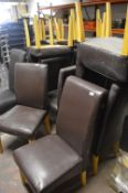 19 Leatherette Highback Chairs