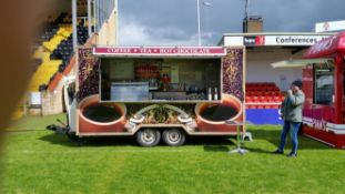 14ft long twin axle coffee trailer - Located in Sheffield full details will be given to successful b