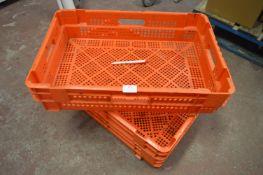 *30 Orange Stackable Storage Baskets 60x40x15cm
