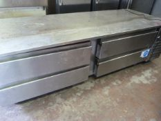 *Precision Four Drawer Stainless Steel Mobile Preparation Unit